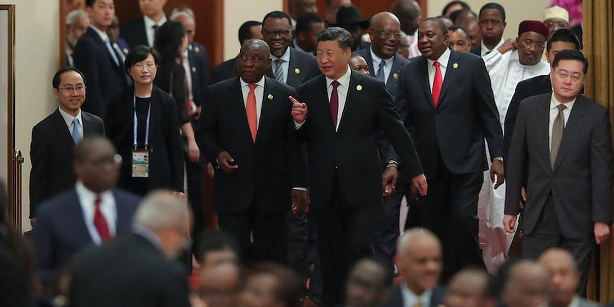 Le Président chinois et quelques uns de ses homologues africains